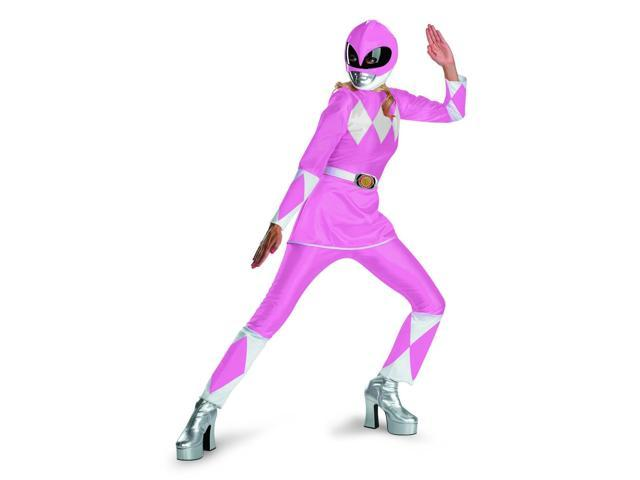 Power Rangers Pink Ranger Deluxe Adult Costume w/ Helmet Large