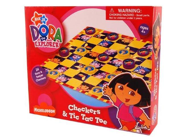 Nickelodeon Checkers & Tic Tac Toe Game Dora