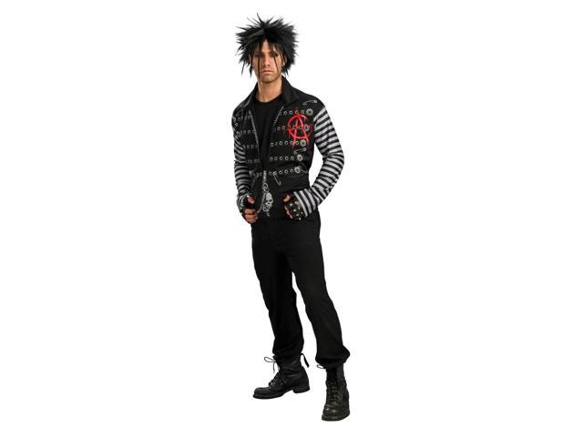 Punk Rebel Rock Goth Emo Jacket Shirt Costume Adult Standard
