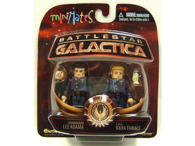 Battlestar Galactica Series 3 Minimates Adama & Thrace