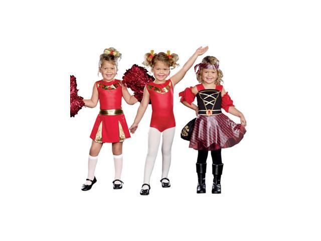 High Spirits 3 In 1 Cheerleader Gymnast Pirate Costume Child Small 3-5
