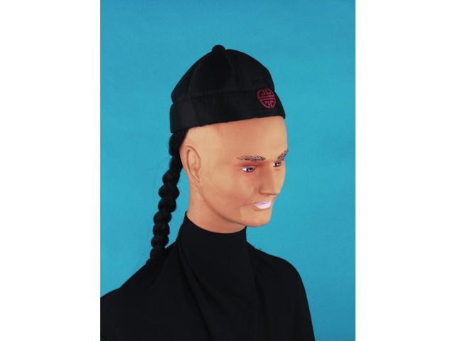 Chinese Pig Tail Adult Costume Hat