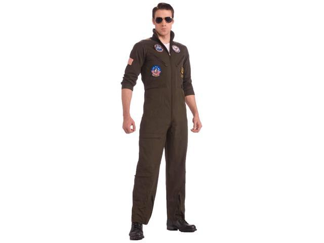 Top Gun Men's Flight Suit Costume Adult Plus X-Large 44-46