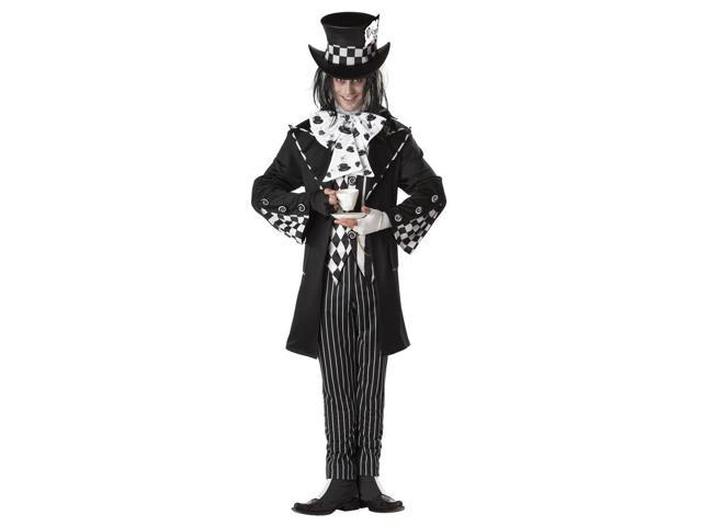 Dark Mad Hatter Alice Wonderland Adult Costume X-Large 44-46