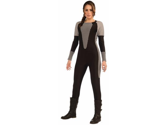 Survival Suit Jump Suit Black/Gray Adult Costume X-Small/Small