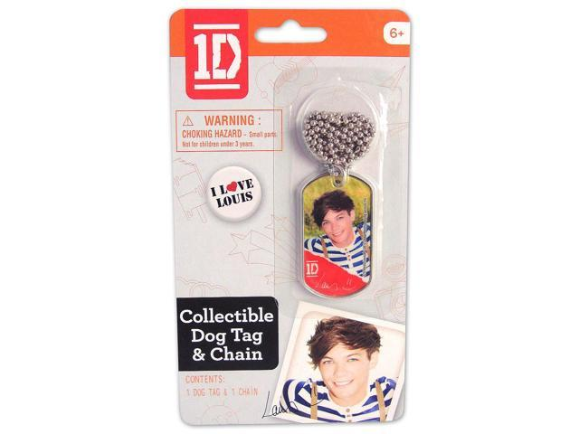 1D One Direction Collectible Dog Tag Necklace: Louis