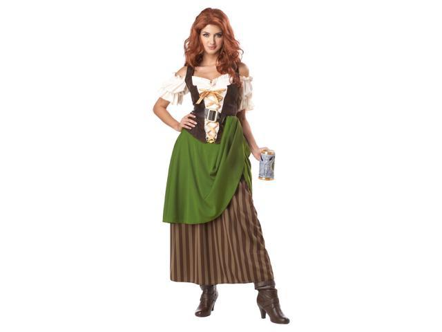 Tavern Maiden Dress Costume Adult X-Large 12-14