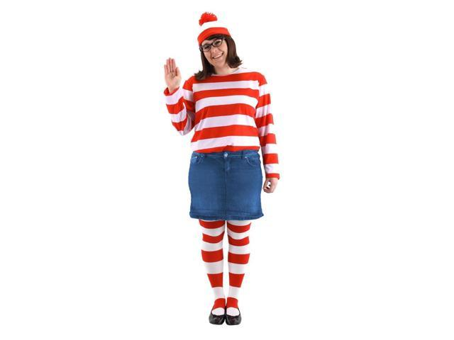 Where's Waldo Wenda Costume Plus Adult Plus Size