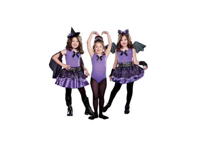 Halloween Cutie 3 In 1 Witch Ballerina Bat Costume Child X-Small 0-1