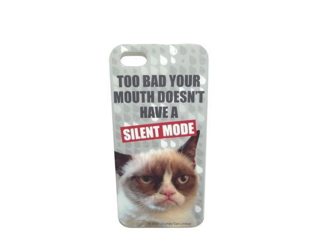 Grumpy Cat Iphone Cover Too Bad Your Mouth Doesn't Have A Silent Mode
