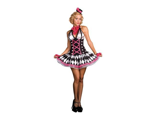 Sexy Circus Clown Harlequin Honey Costume Adult Large