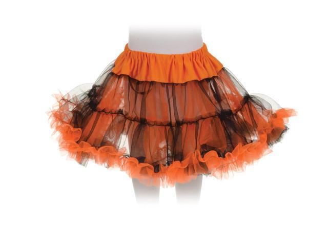 Tutu Petticoat Costume Skirt Child: Orange & Black One Size Fits Most