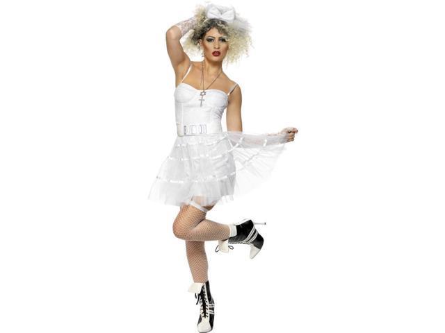 80's Punk White Corset Costume Adult Medium Medium
