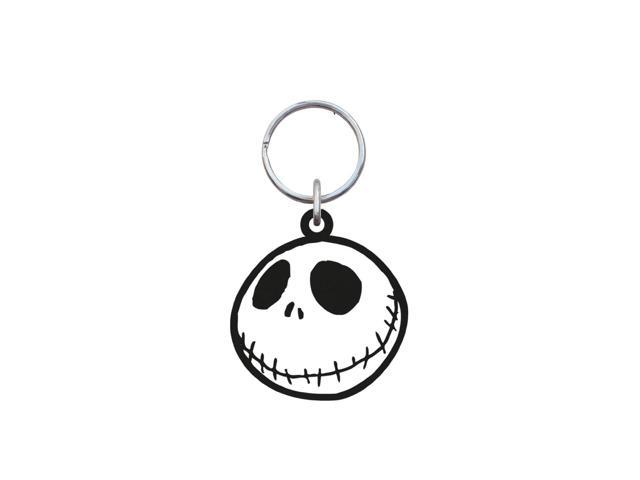 The Nightmare Before Christmas Soft Touch PVC Key Ring: Jack Skellington (Smiling Head)