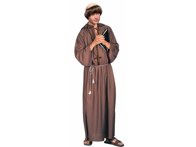 Brown Monk Robe Costume Adult Standard