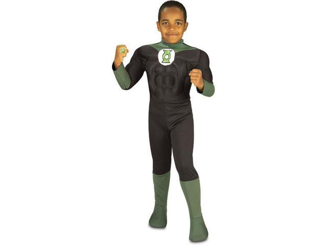 Green Lantern Muscle Chest Child Costume Large