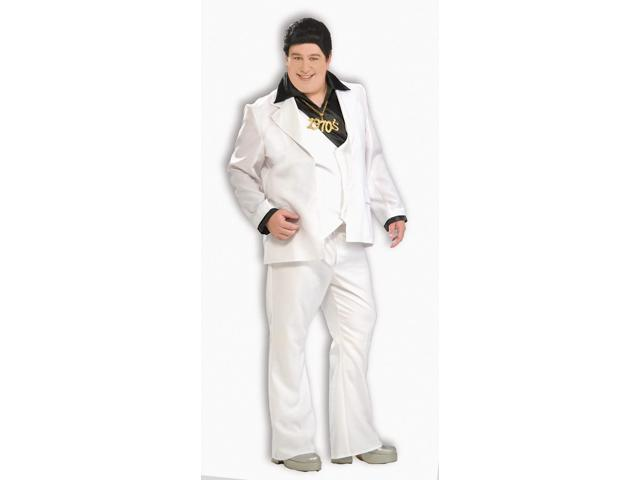 70's Disco Fever White Suit Costume Adult Plus Plus Size
