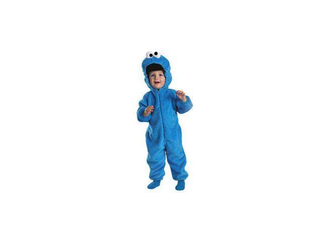 Sesame Street Cookie Monster Deluxe Two-Sided Plush Jumpsuit Child Medium 3-4T