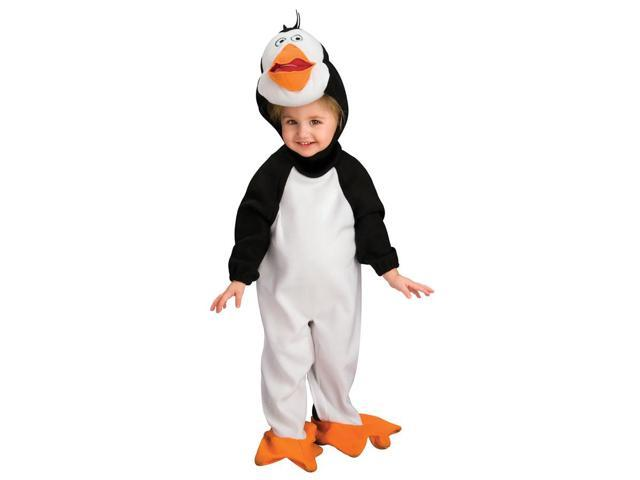 Penguins Of Madagascar Penguin Romper Rico Costume Child Toddler 6-12 Months