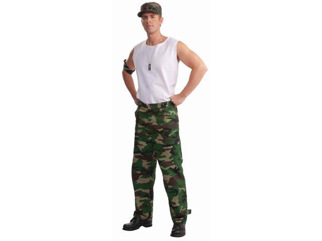 Combat Hero Costume Camouflage Pants Adult Standard