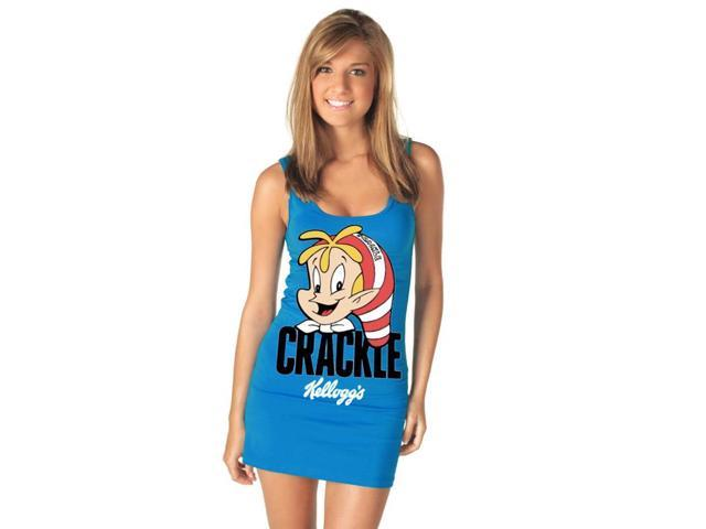 Sexy Rice Krispies Crackle Blue Tank Dress Costume Adult Medium