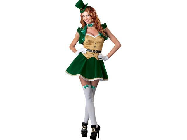 St. Patrick's Sexy Lucky Lass Costume Dress Adult Large