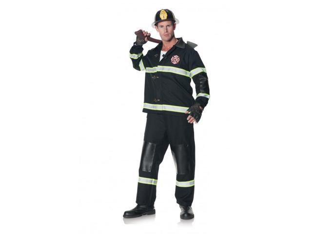 Fireman Rescuer Adult Costume One Size
