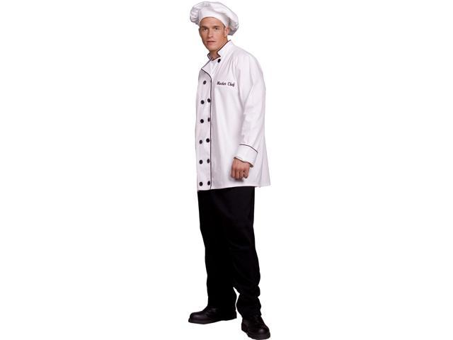 Master Chef Jacket & Hat Costume Adult One Size Fits Most