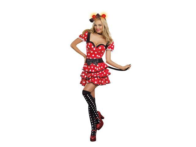 Sexy Miss Mouse Polka Dot Dress Costume Adult Medium