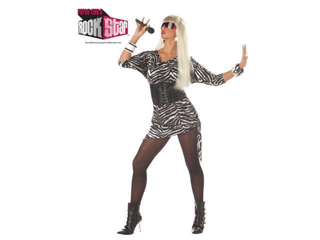 80'S Video Vixen Punk Rock Adult Costume Medium 6-10