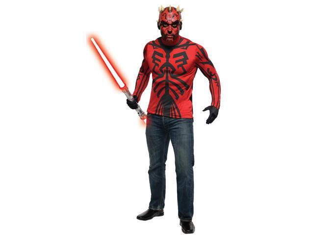 Star Wars Deluxe Darth Maul Costume & Makeup Kit Adult One Size