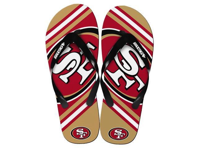 San Francisco 49Ers NFL Unisex Big Logo Flip Flops X-Small (W 5-6)