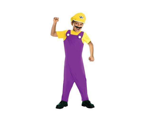 Super Mario Bros Wario Costume Child Small