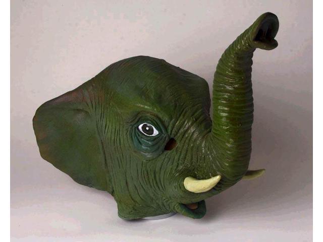 Adult Deluxe Latex Animal Costume Mask - Elephant