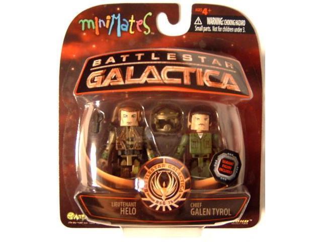 Battlestar Galactica Minimates Lt. Helo & Chief Galen Tyrol Variant