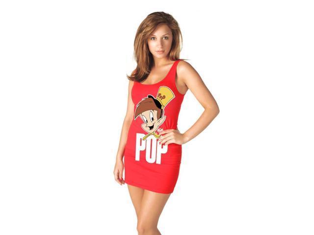 Sexy Rice Krispies Pop Red Tank Dress Costume Adult Medium