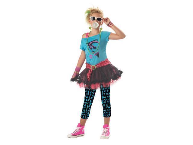 80'S Valley Girl Punk Rock Girl Dress Costume Tween Large 10-12