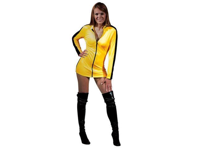 Bruce Lee Game Of Death Sexy Yellow Jumpsuit Dress Costume Adult Medium