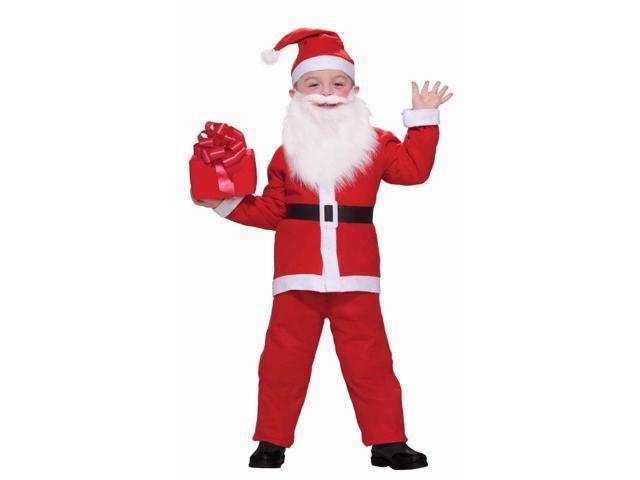 Santa Claus Costume Suit Child Medium 8-10