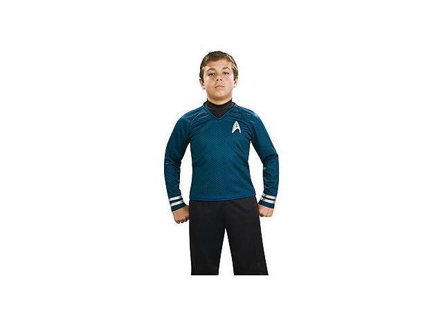 Star Trek Movie Deluxe Spock Blue Shirt Costume Child Small