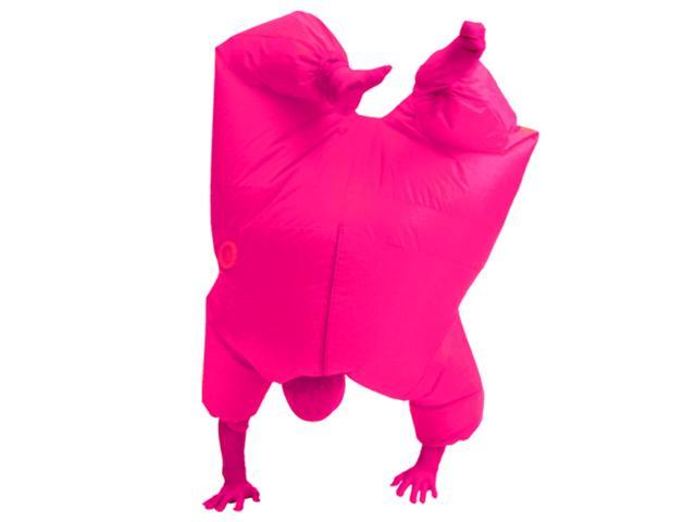 Inflatable Chub Suit Costume: Pink One Size Fits Most