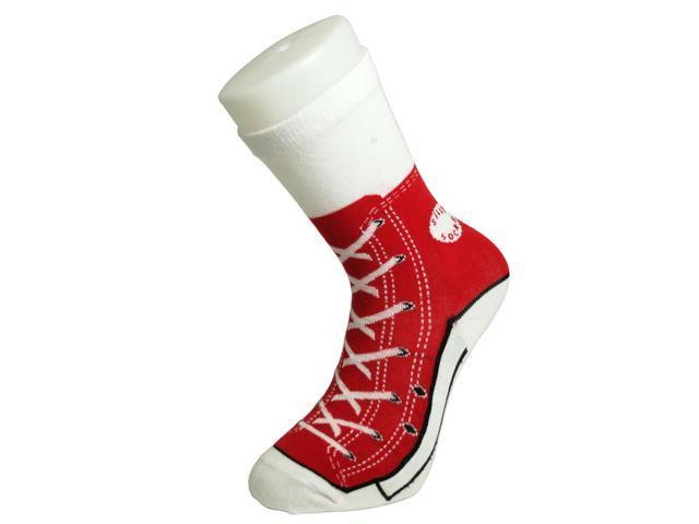 Red Baseball Sneaker Socks