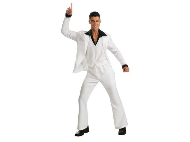 Saturday Night Fever White Disco Suit Costume Adult Standard