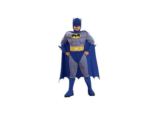 Batman Brave & Bold Deluxe Muscle Chest Batman Costume Toddler Large