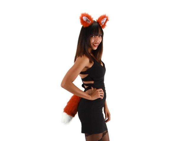 Fox Ears & Tail Costume Accessory Kit Adult One Size