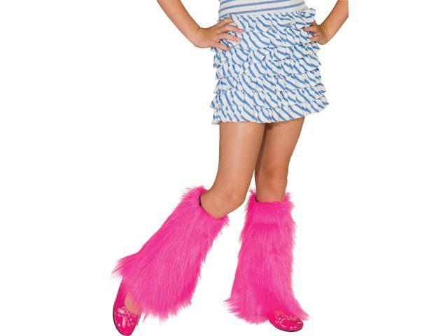 Fluffies Costume Leg Warmers Child: Pink One Size
