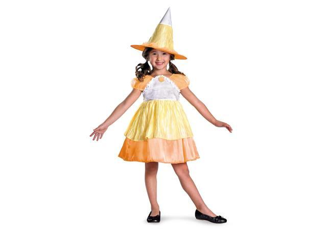 Classic Candy Corn Witch Dress Costume Toddler Small 4-6