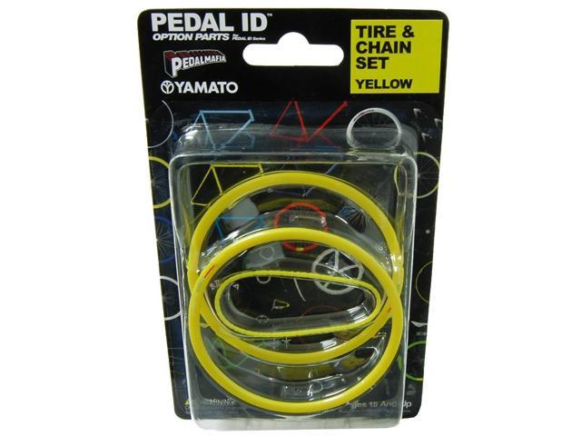 Pedal Id 1:9 Scale Bicycle: Tire & Chain Set: Yellow
