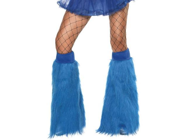 Blue Neon Furry Costume Accessory Bootcovers
