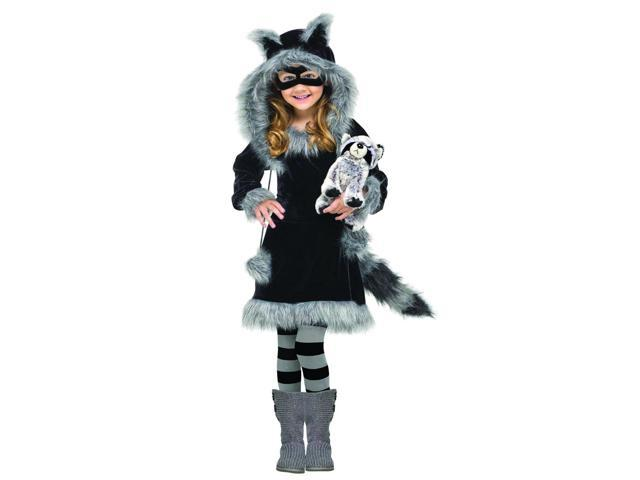 Sweet Raccoon Dress Costume Child Toddler Small 3-4T